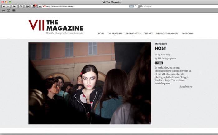 VII Magazine cover, 2013