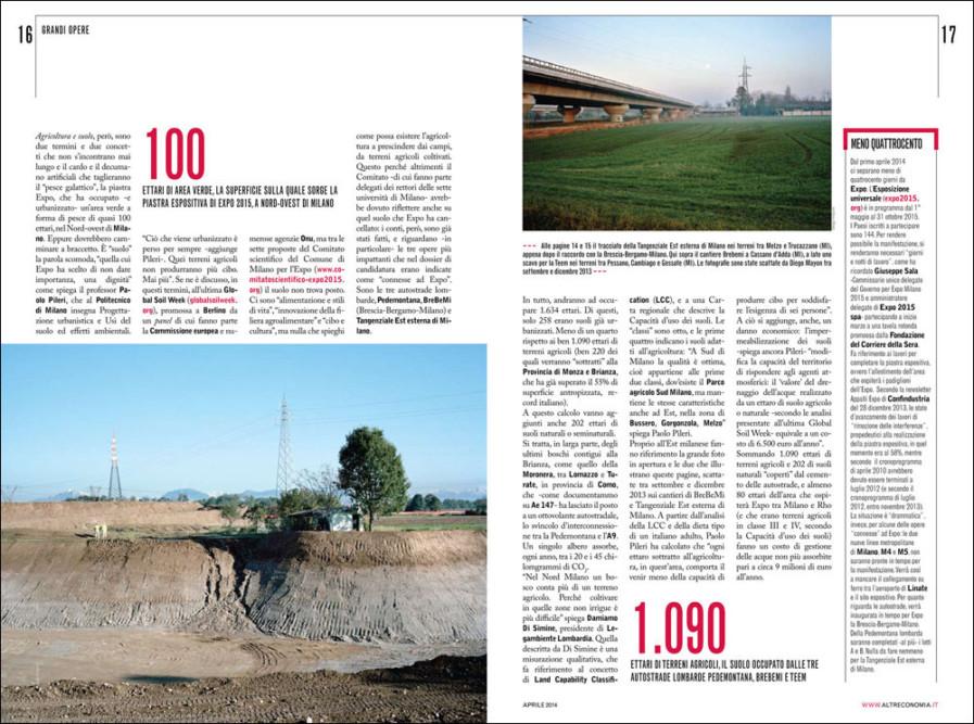 Altreconomia, April 2014, pp.16-17