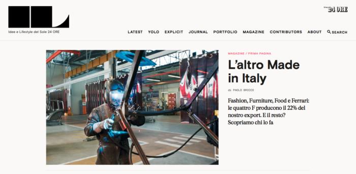 IL - Idee e Lifestyle del Sole 24 ORE, March 2016, Website Homepage