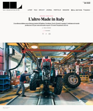IL - Idee e Lifestyle del Sole 24 ORE, March 2016, Website article