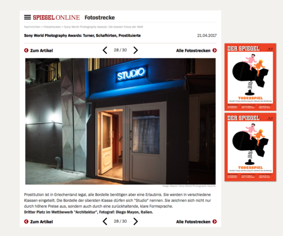 Der Spiegel Website - April 2017