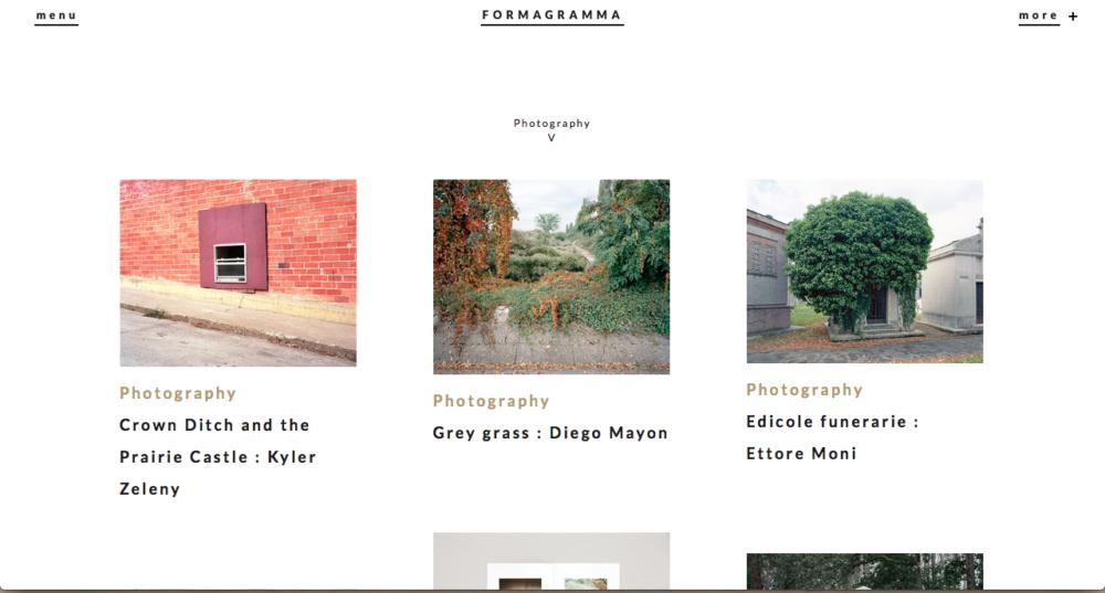 Formagramma website - April 2017