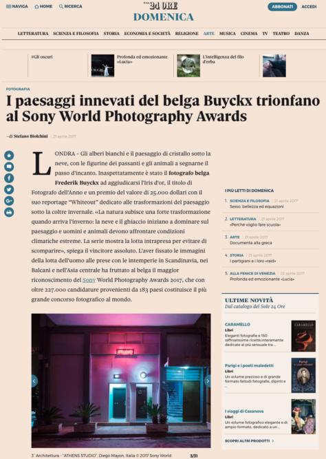 Il Sole 24 Ore Website - April 2017