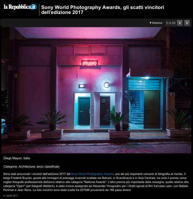 La Repubblica Website - April 2017