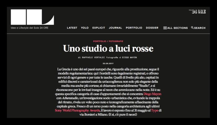 IL Magazine - Text by Raffaele Vertaldi, May 2017