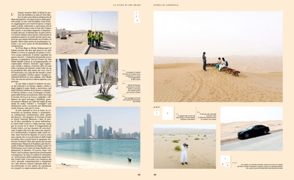 IL 94, September 2017 - Hipster Guide UAE - Text by Enrico Dal Buono, pp. 48-49