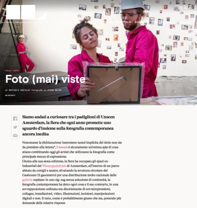 IL Magazine Web - Text by Raffaele Vertaldi, September 2017
