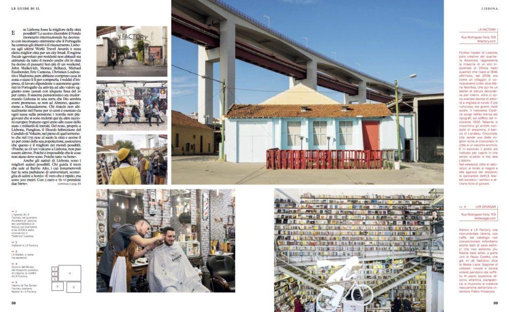 IL - Idee e Lifestyle del Sole 24 ORE (#IL99), March 2018 - Lisbon guide - Text by Enrico Dal Buono, pp. 58-59
