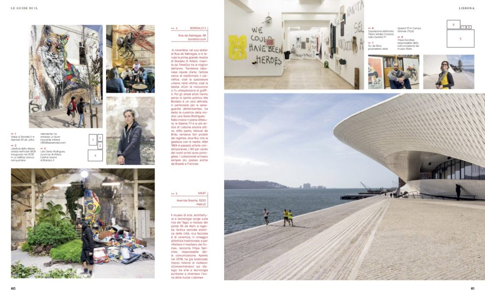 IL - Idee e Lifestyle del Sole 24 ORE (#IL99), March 2018 - Lisbon guide - Text by Enrico Dal Buono, pp. 60-61