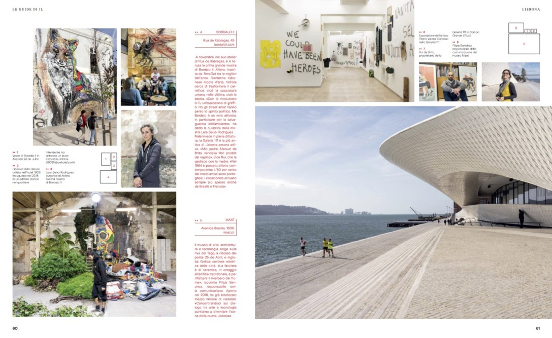 IL - Idee e Lifestyle del Sole 24 ORE (#IL99), March 2018 - Lisbon guide - Text by Enrico Dal Buono, pp. 60-61