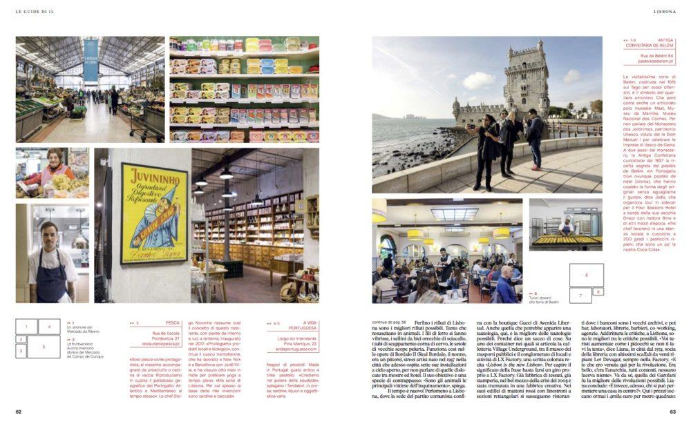 IL - Idee e Lifestyle del Sole 24 ORE (#IL99), March 2018 - Lisbon guide - Text by Enrico Dal Buono, pp. 62-63