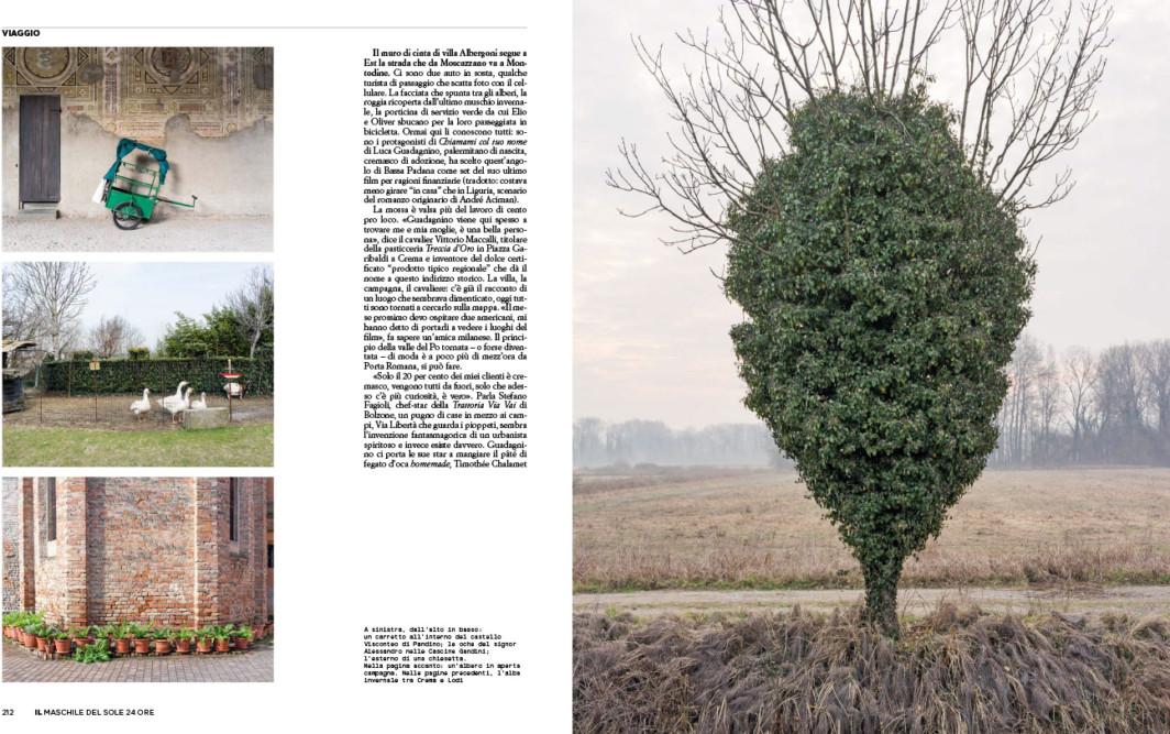 IL - Idee e Lifestyle del Sole 24 ORE (#IL100), April 2018 - La Bassa Padana è uno stato mentale - Text by Mattia Carzaniga, pp. 212-213