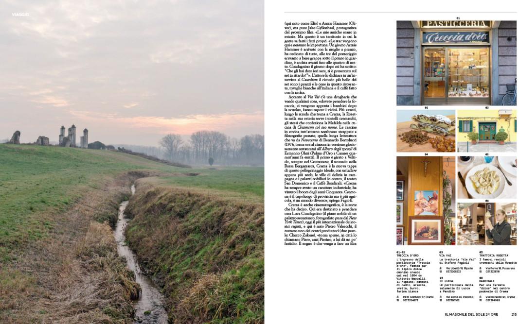 IL - Idee e Lifestyle del Sole 24 ORE (#IL100), April 2018 - La Bassa Padana è uno stato mentale - Text by Mattia Carzaniga, pp. 214-215