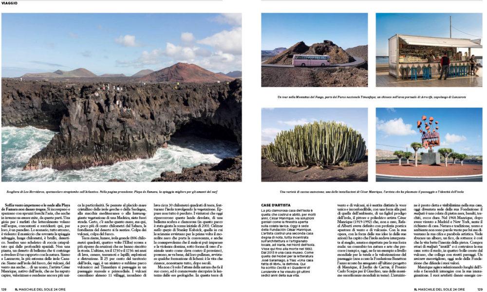 IL Magazine, The guides of IL, pp.128-129 - Isola di vento e di vulcani - Text by Stefano Salis, May 2018