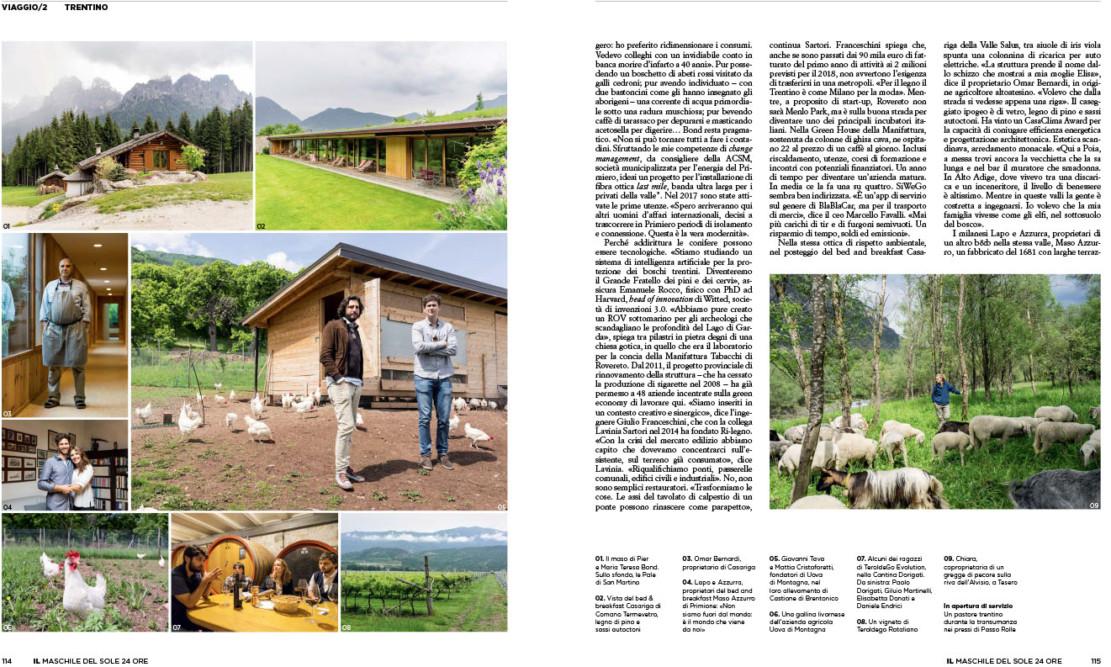 IL Magazine, pp. 114-115 - Trentino - Text by Enrico Dal Buono, July 2018