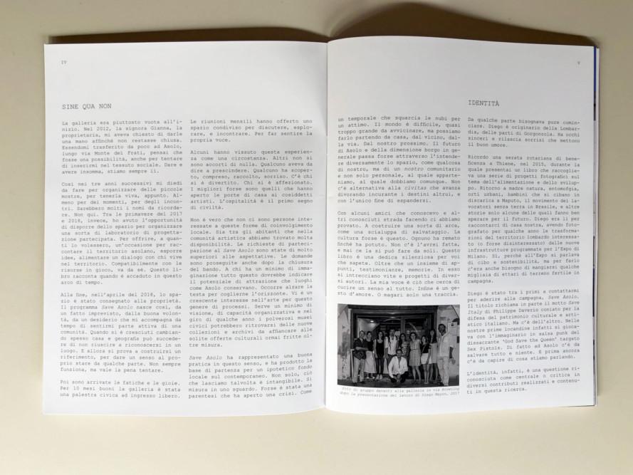 ASOLO SINE QUA NON, a cura di Steve Bisson - Urbanautica Books, pp. 4-5