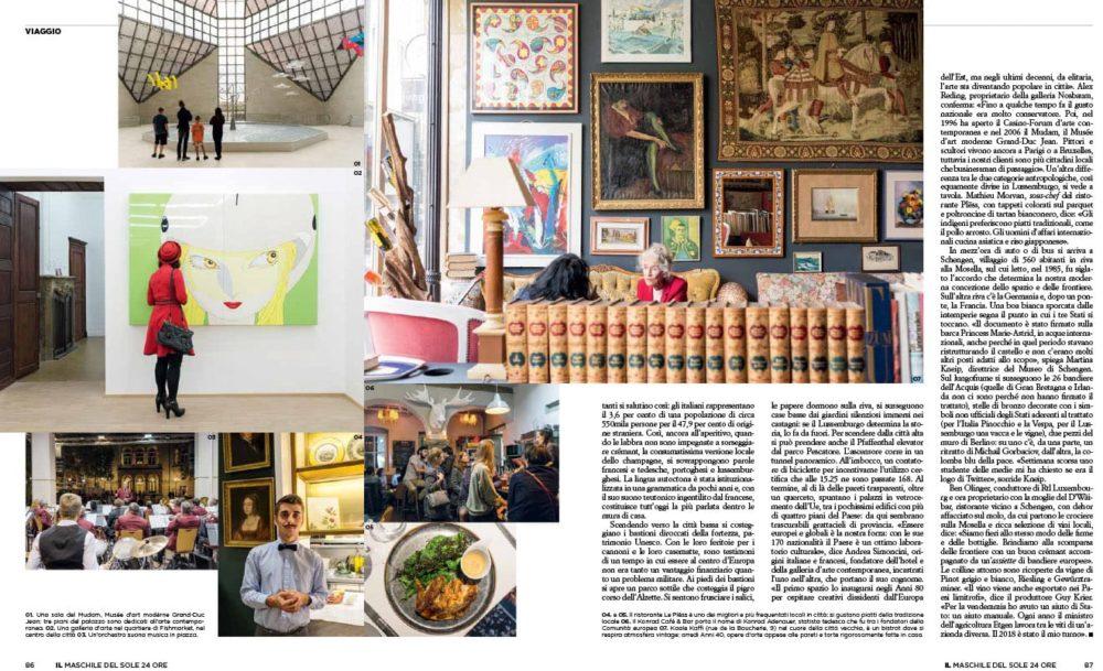 VIAGGIO Lussemburgo - IL Magazine, pp. 86-87 - Text by Enrico Dal Buono, January 2019