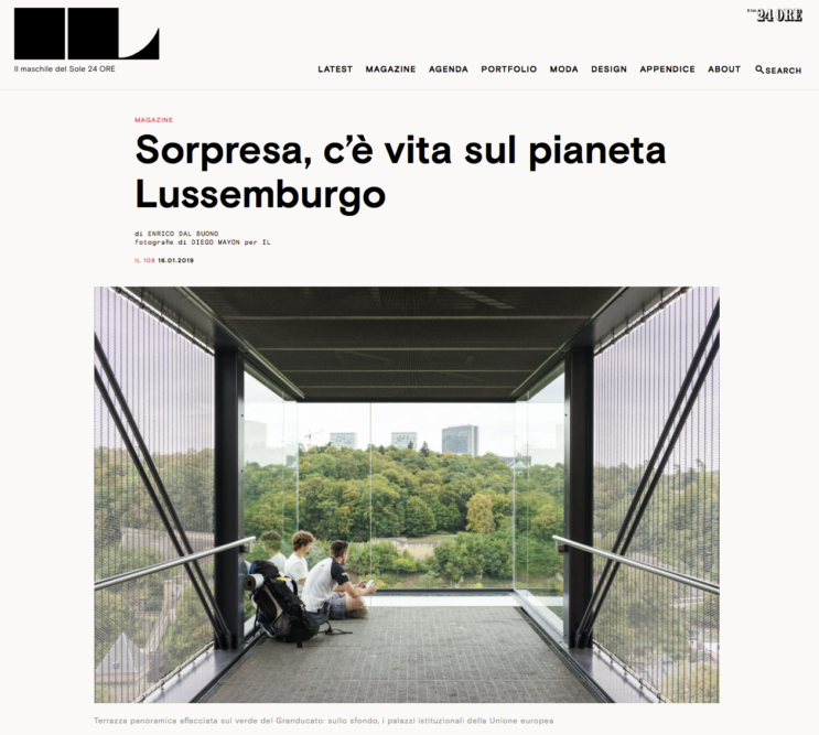 IL Magazine Website, The guides of IL - Luxembourg - Text by Enrico Dal Buono, January 2019
