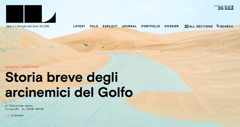 IL Magazine Website, cover story with text by Christian Rocca