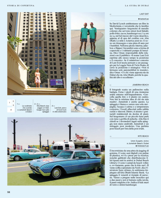 IL - Idee e Lifestyle del Sole 24 ORE (#IL94), September 2017 - Hipster Guide UAE - Text by Enrico Dal Buono, p. 58