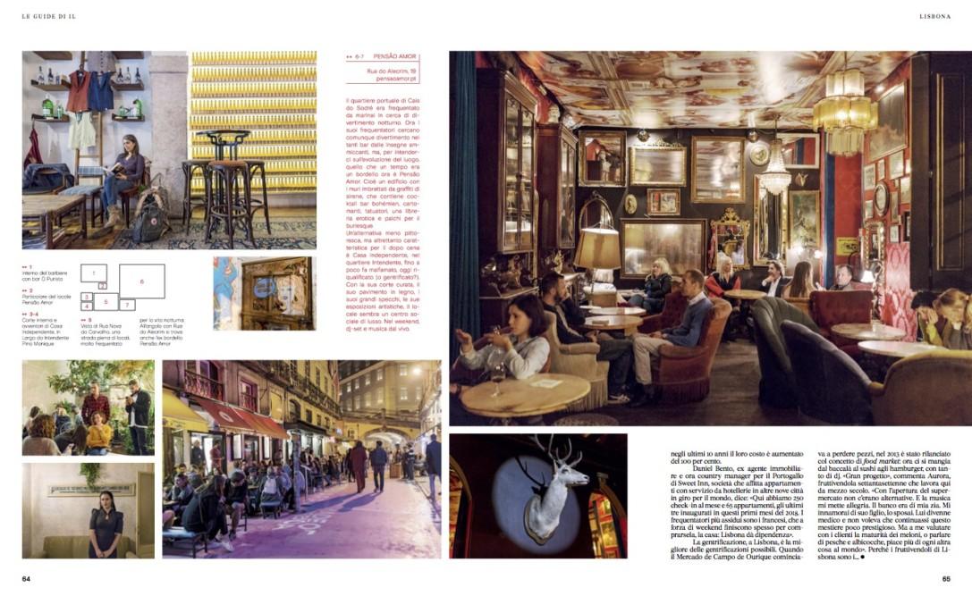 IL - Idee e Lifestyle del Sole 24 ORE (#IL99), March 2018 - Lisbon guide - Text by Enrico Dal Buono, pp. 64-65