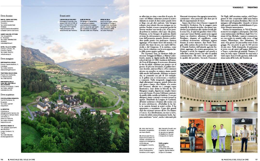 IL Magazine, pp. 116-117 - Trentino - Text by Enrico Dal Buono, July 2018
