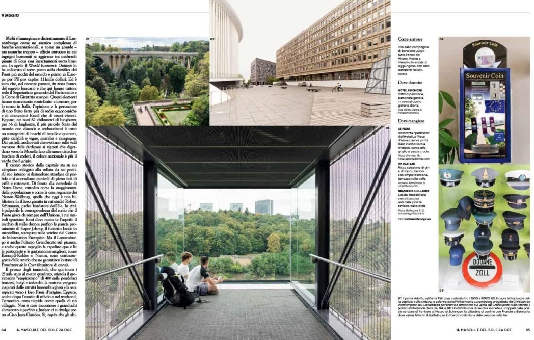 VIAGGIO Lussemburgo - IL Magazine, pp. 84-85 - Text by Enrico Dal Buono, January 2019